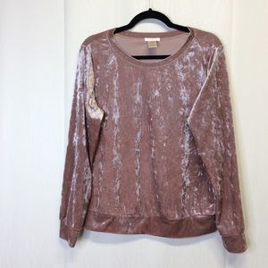 Matty Velvet Sweater Top Blush (Pink) M
